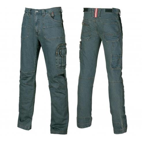 f0e14912a048b Jeans da Lavoro Elasticizzato Upower Traffic Con Triple Cuciture