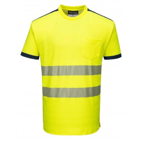 T-Shirt Alta Visibilita' Vision Gialla