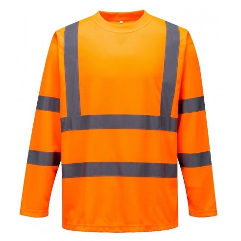 super popular 6d902 2fab4 Maglia leggera Arancione ad Alta visibilità con Manica Lunga